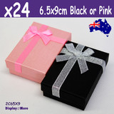 24X Necklace Set Gift Box-6.5x9cm-PREMIUM Quality | Black or Pink