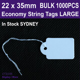 500 Paper String Swing Jewellery Price Tag-22x35mm | LARGE