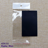 Reliable 200 Blank Black Earring Cards + 200 Clear Seal Bags
