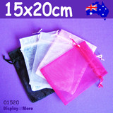 100 Organza Bag Jewellery Gift Pouch-15x20cm | BEST Value