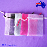 200 Organza Jewellery Gift Pouch Bag-7.5x9cm | SUPER DEAL
