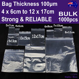 Ziplock Bag ZIP Lock Resealable CLEAR | 1000pcs BULK | Strong RELIABLE