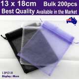 Organza Bag Jewellery GIFT Pouch | 200pcs 13x18cm | BEST QUALITY