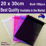 Organza Bag Jewellery Gift POUCH | 100pcs 20x30cm | BEST QUALITY