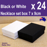 Necklace Box JEWELLERY Gift Case | 24pcs SMALL 7x9cm | Plain