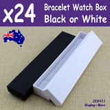 Bracelet Box WATCH Gift Case | 24pcs 4x21cm | Premium PLAIN
