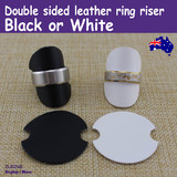 Ring Riser Stand | 20pcs | Premium DOUBLE Sided Leather | Black or White