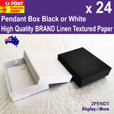 Pendant Box CHAIN Gift Case | 24pcs 7x9cm | PLAIN White Black