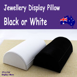 Bracelet Holder ANKLET Watch Display Pillow | BLACK or Ivory
