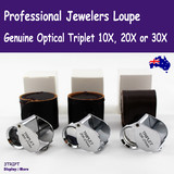 Jeweller Loupe OPTICAL 21mm | Jewellers GENUINE Triplet | 10X 20X 30X