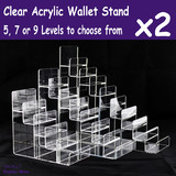 Wallet Holder Stand DISPLAY Rack | 2pcs | ACRYLIC Clear