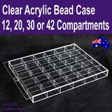 BEAD Display Case | 12/20/30/42 Compartments | Clear ACRYLIC