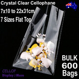 CELLO Bag Cellophane | BULK 600pcs 7 Sizes | No Flap Non Seal