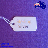Paper TAG String Swing Jewellery Label | 500pcs | Sterling SILVER