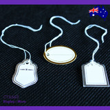 500 Paper String Swing Jewellery Price Tag | Silver or Golden