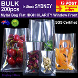 MYLAR Bag Food Pouch | 200pcs | High CLARITY Clear Front