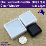 Opal Box GEMSTONE Case Coin Display | 48pcs | CLEAR Window