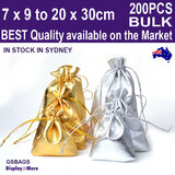 Gold Silver POUCH Satin Gift Bag | 200PCS Wholesale | BEST QUALITY