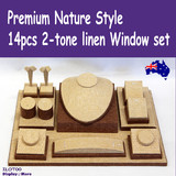 Jewellery Display Window Set PREMIUM | Classy 2-tone Linen