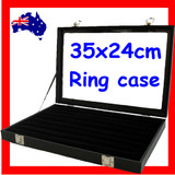 Minor Defect Ring Display Case Box Organiser | Glass Lid