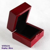 Minor Defect Cherry Wood Engagement Wedding Ring Gift Box-New