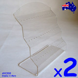 Minor Defect Tongue BELLY BAR Holder Stand | 2pcs | Clear Acrylic