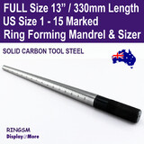Ring Mandrel Sizer Solid CARBON TOOL STEEL | Marked US Size