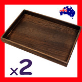 2 Jewellery Display Trays FLAT Floor | Wood NATURE Style