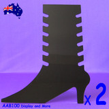ANKLETS Holder Stand ACRYLIC Black | 2pcs | High Heel Shoe