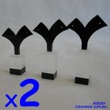 Earring Display Holder Stand ACRYLIC | 6pcs | Black