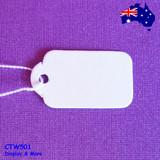 Paper Price TAG String Swing | BULK 500pcs | Plain White RELIABLE