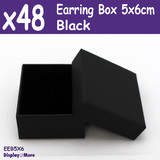 48X Earring Gift Box-5x6cm-PLAIN Black | PREMIUM Quality