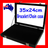 Bracelet CHAIN Jewellery Case Box | GLASS Lid | Reliable