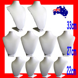 Necklace Bust Display Stand PADDED | 10pcs SUPER DEAL Large | Ivory