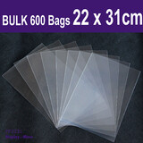 100 Clear Cellophane Bag-22x31cm-No Flap-Non Seal | Suit A4 Magazine