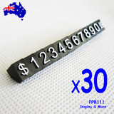 30 Sets Price CUBE Tag Retail Sale | WHITE Numerals on Black