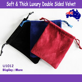 Jewellery Gift Pouch LUXURY | 100pcs 10x12cm | DOUBLE Sided Felt Velvet