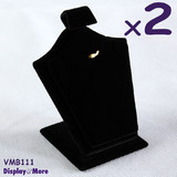 Pendant Stand CHAIN Display Holder | 2pcs | FELT Black Velvet