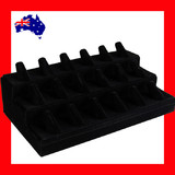 Ring Stand Holder Organiser | 3 Tiers FULL Felt Black Velvet